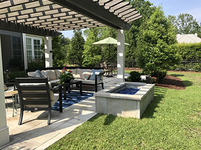 pergola-fire-pit-hardscapes-Levys-Landscaping-Wilmington-NC - Levy's Landscaping - A Top Landscaping Company In Wilmington, NC